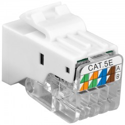 Frutto Keystone Toolless RJ45 Cat5e UTP Snap-In Bianco