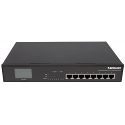 Gigabit Ethernet Switch 8 porte con 4 porte Ultra PoE e schermo LCD