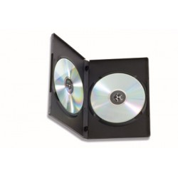 Custodia Doppia per DVD/CD BOX Nero