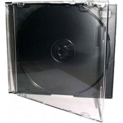 Porta CD Slim Jewel Case Nero