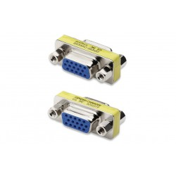 Mini Gender Changer VGA DB 15 poli HD F/F