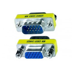 Mini Gender Changer VGA DB 15 poli HD M/F