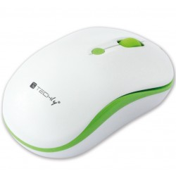 Mouse Wireless 2.4GHz 800-1600 dpi Bianco/Verde