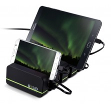 Docking Station 4 Porte USB Ricarica Smartphone e Tablet Fourza