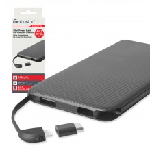 Carica Batterie Power Bank Slim 5000mAh 4-in-1 Micro-USB/8-pin/USB-C/USB-A