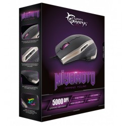Mouse Gaming USB 5000dpi 9 Tasti Nero Argento Miyamoto GM-9001