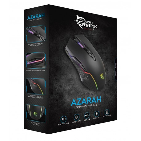 Mouse Gaming 6400 Dpi GM-5003 AZARAH RGB Nero