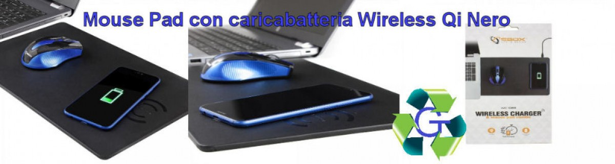 Mouse pad con caricabatteria wireless